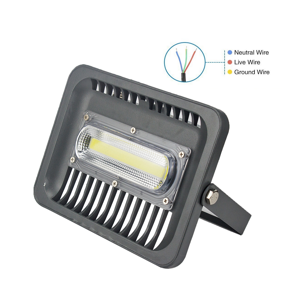 LED Flood Light 30W 50W 100W 150W COB Exterior Spotlight IP66 LED Outdoor Light Spot Floodlight Aluminum Garden Lamp