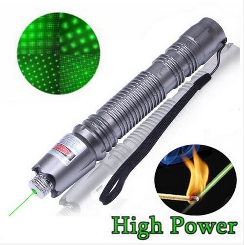 10000mW 532nm 2in1 Laser Pointer High Powered Adjustable Focus Burning Match Green Laser Pointer Pen 10000m