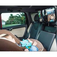VORCOOL 360 Degrees Rotatable Shatterproof Back Seat Rear View Baby Mirror (Black)