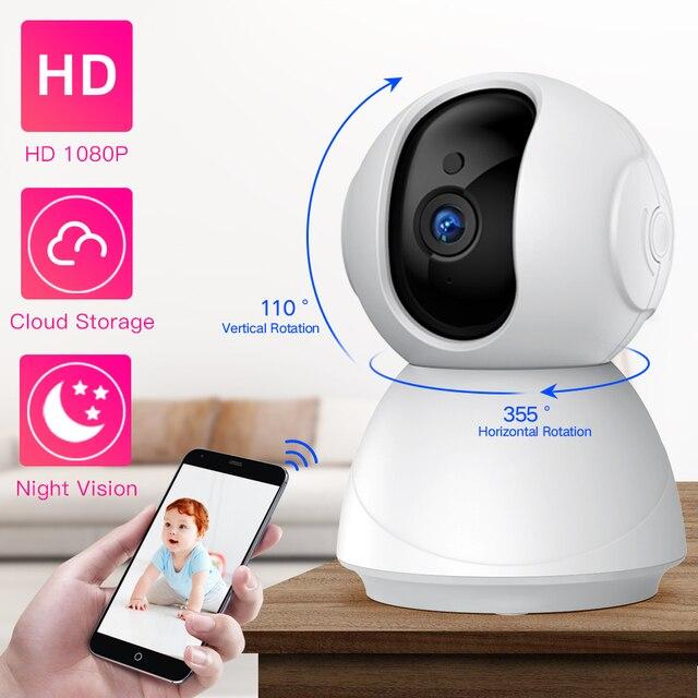 SDETER cámara de seguridad inalámbrica 1080P 720P, IP, WiFi, CCTV, vigilancia, visión nocturna, Monitor de bebé, cámara para mascotas P2P