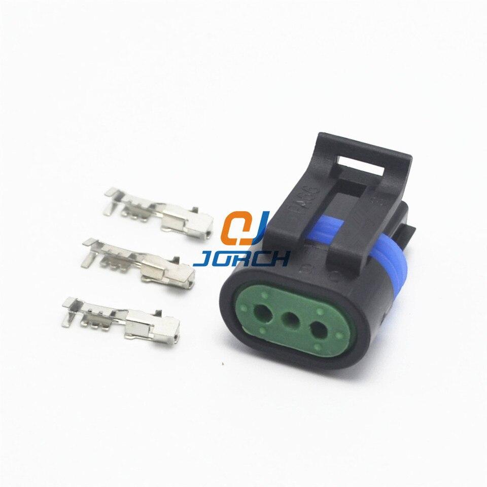 10 sets 3 pin delphi gm auto sensor waterproof connector wiring ...  aliexpress