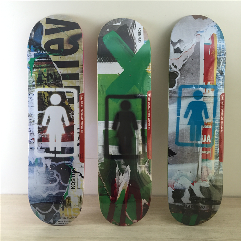 NEW ARRIVED USA BRAND GIRL 8&8.25 skate boarding decks made by 7layers canadian maple with LOGO pattern For pro skater ...
