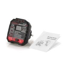 цена на HABOTEST HT106D Socket Testers Voltage Test Socket detector EU Plug Ground Zero Line Plug Polarity Phase Check
