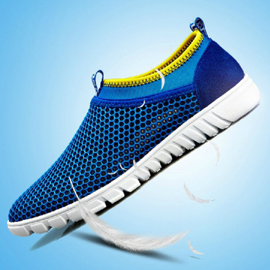 Ultra light Summer Breathable Cool Flats Walking font b Shoes b font Air Mesh Style Lazy