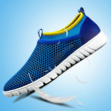 Ultra-light Summer Breathable Cool Flats Walking Shoes Air Mesh Style Lazy Male Shoes S0004