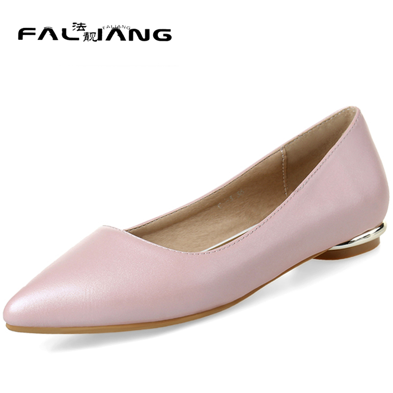New arrival Spring Autumn plus size 11 12 13 14 15 Fashion Pointed Toe womens Shallow shoes Thin Heels Non-slip flat shoes new 2017 spring summer women shoes pointed toe high quality brand fashion womens flats ladies plus size 41 sweet flock t179