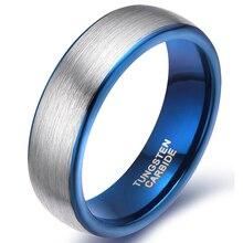 8 mm hombres de carburo de tungsteno anillo cepillado Engagement Wedding Band para hombre anillo de ajuste cómodo
