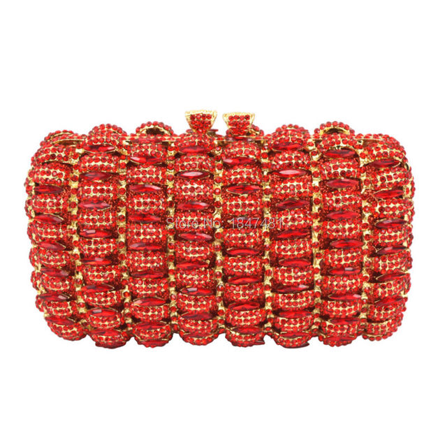 LaiSC new design cocktail party clutch bags French romantic evening bag women handbags red studded jeweled pochette purse SC148