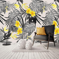 3d Wallpaper Mural Walls Decor Custom Home Improvement Black White Wallpaper For Living Room Wall Photo