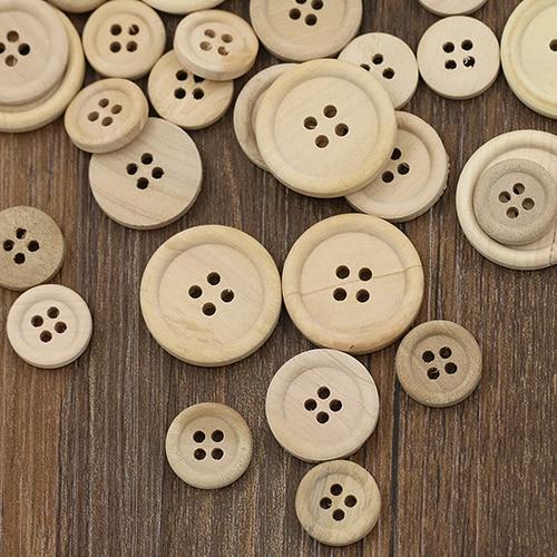40pcs 40mm in bulk Scrapbooking Sewing Good nature wood buttons women coat mixed
