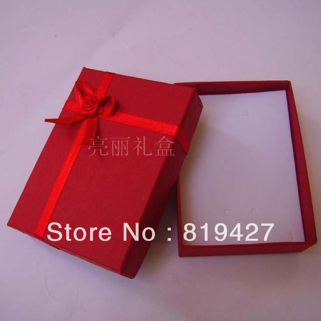 Wholesale 24ps Lot Red 8 11 2 5cm Jewelry Set Box Necklace Earrings Ring gift Box