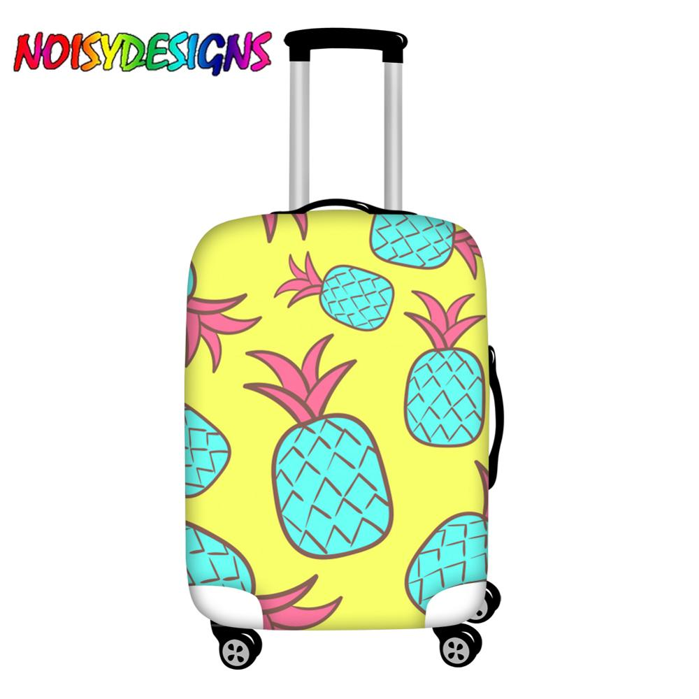 NOISYDESIGNS Travel Luggage Accessories Trolley Covers Pineapples Blue Suitcase Protection Case Waterproof Newest Luggage Cover