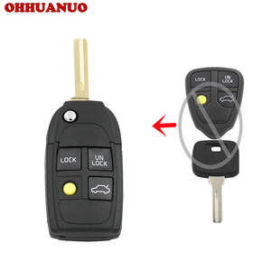 folding key fob 3 button volvoflip folding remote key case shell for volvo xc70 xc90 s40 s60 s70 s80 s90 v40 v70