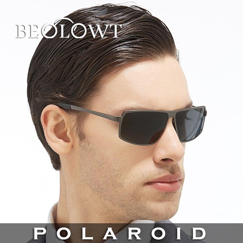 e018562bf Beolowt marca de moda óculos de sol polaroid mulheres óculos de sol dos  homens polarizados para a condução de liga com caixa de caso 5 cores bl372