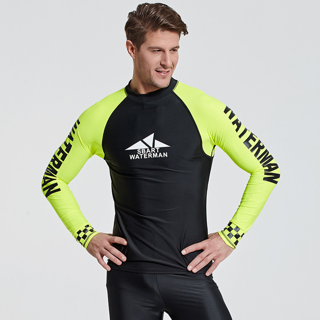 SBART Long Sleeve Diving Wetsuit Lycra Quick-dry Sun Protection T-shirt Swim Surf Rash Guard Snorkeling Spearfishing Diving Suit