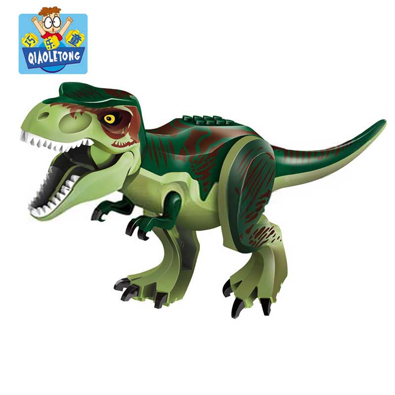 Original Jurassic Dinosaur World Figures Tyrannosaurs Rex Building Blocks Jurrassic Park Dinosaur Brick Toys Compatible Legoings fopcc 2pcs sets 79151 jurassic dinosaur world figures tyrannosaurs rex building blocks compatible with dinosaur toys legoings