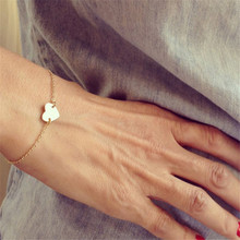 Gold Silver Color Charm Bracelets For Women Luxury Jewelry Heart Love Pendant Chain Bracelets & Bangles O-510