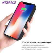 NTSPACE 5000mAh New Fashion Wireless Magnetic Battery Case Charging For iPhone XR Ultra-thin Portable Power Bank