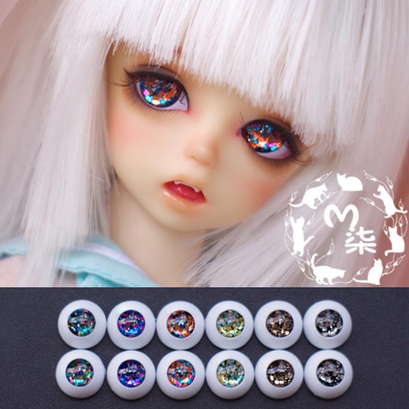 1Pair Retail DIY SD BJD Dolls Accessories High Quality BJD Eyes 10MM 12MM 16MM 18MM 20MM uncle 1 3 1 4 1 6 doll accessories for bjd sd bjd eyelashes for doll 1 pair tx 03