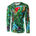 Новое Прибытие мужская Футболка С Длинным Рукавом О Шеи Человек 3D Дизайн Футболка Печати попугай Моды Майка бренд clothing T shirt мужчины