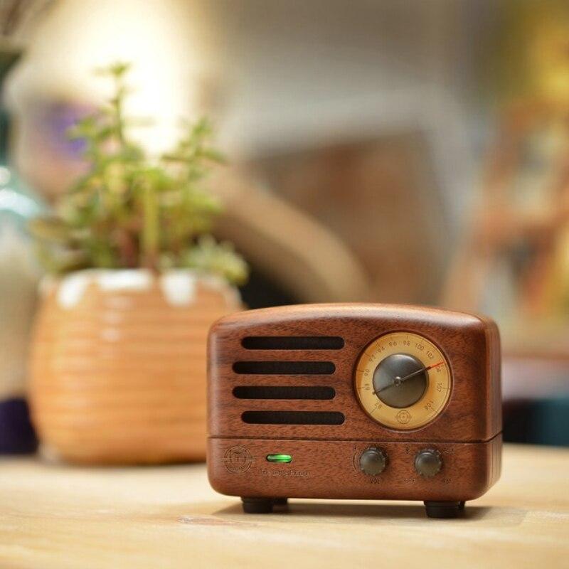ICL classique roi petit Prince OTR Bluetooth haut-parleur FM radio bois Mini lecteur de musique sans fil audio MW-2 pour PC téléphone portable - 3