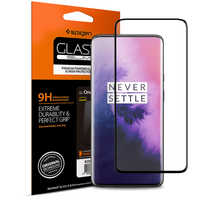SPIGEN OnePlus 7 Pro Tempered Glass Screen Protector GLAS.tR K09GL26502 Curved 9H Hardness Full Coverage Black Protective Film
