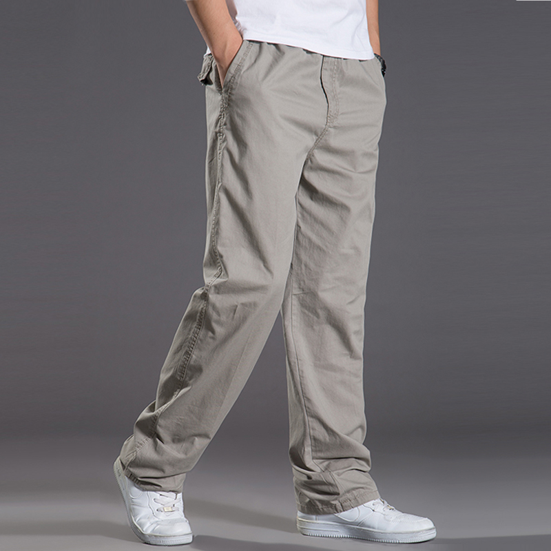 2019 New Spring Summer Casual Pants Men Cargo Pants Cotton Loose Trousers Mens Pants Overalls Fashion Super Large XL-6XL 422