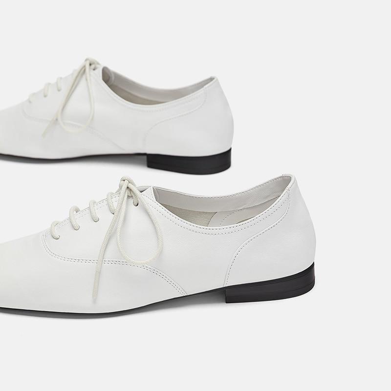 2018 En Robe Fsj Shoeslace Mode Blanc Cuir Dentelle Up Appartements Été Automne Richelieu 416 Femme Chaussures Occasionnels Filles Fsj01 Wommens 3jA54RL