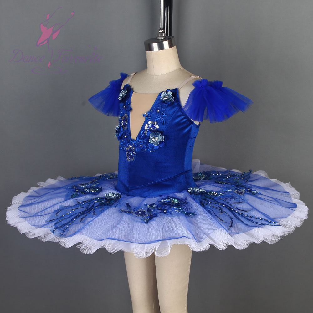 Samt Blau Vogel Ballett Tutu Schwarz Schwan Ballett Tutu Pre professionelle Ballett Tutu Für Wettbewerb Oder Leistung Dance Kostüme - 4