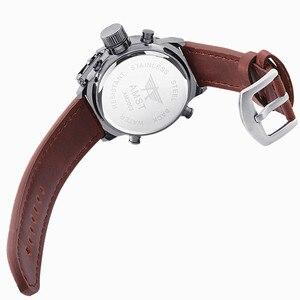 Image 5 - שעון גברים אופנה מקרית יוקרה מותג AMST Diver LED זכר ספורט צבאי רצועת עור עמיד למים שעון יד Relogio Masculino