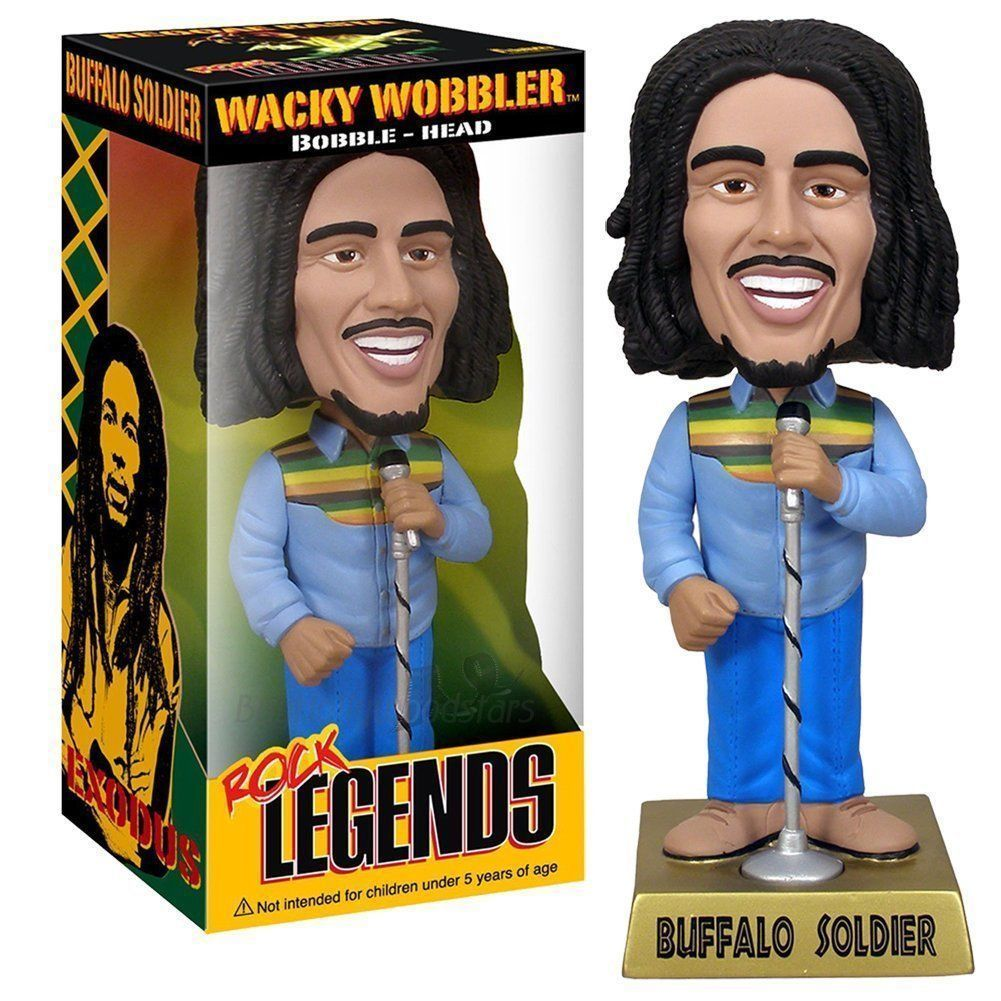 Bob Marley Figura Buffalo Soldier Reggae Wacky Wobbler Bobble Head Regalo Anime Figure Da Collezione Model Toy 8 20cm dc wonder woman headknocker wacky wobbler bobble head pvc figure toy doll wf016
