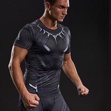 Black Panther Mens Long Sleeve T Shirt Superhero Comics Compression Fitness Top