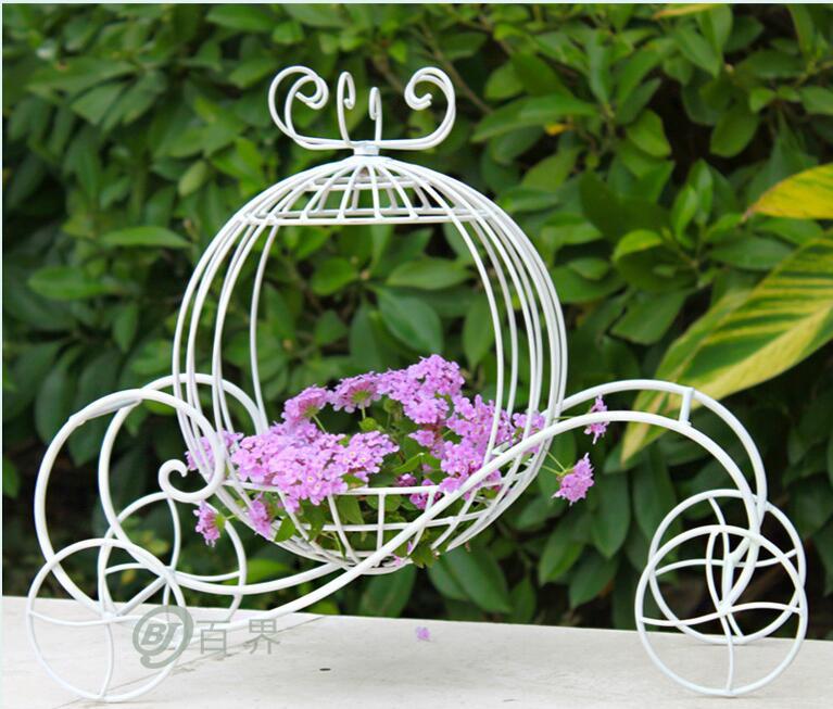 European style rural iron art little pumpkin car flower frame wedding props decoration photo shop window wedding decoration in Party DIY Decorations from Home Garden