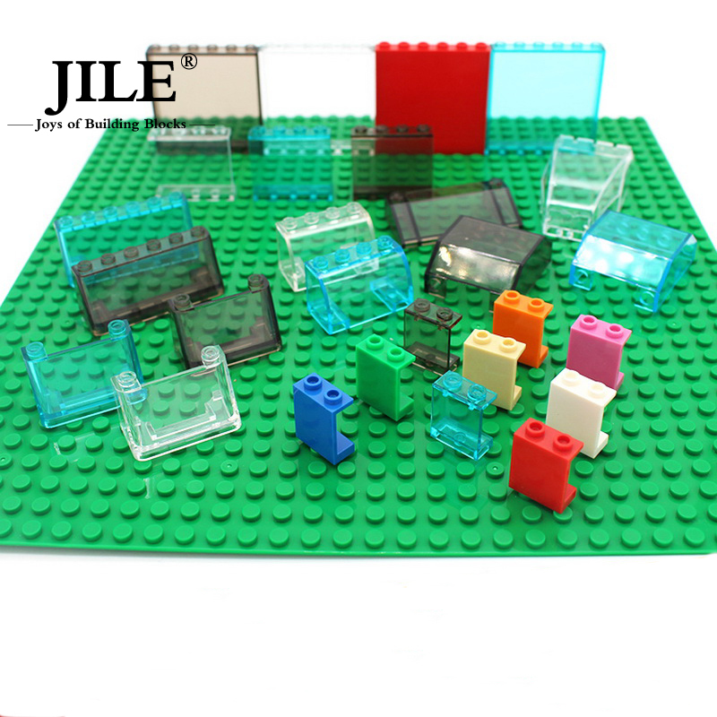 WANGGE Free Shipping!MOC DIY building enlighten block bricks Compatible With  Particles transparent ABS glass tablet  plate