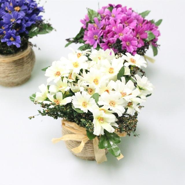 JAROWN Artificial Daisy Flowers Set Daisy Silk Flowers Wedding Party ...