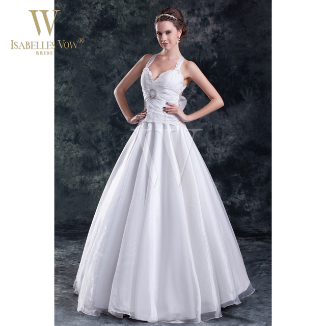 Anese Style Wedding Dress White A Line Halter Backless With Bow Floor Length Bride For