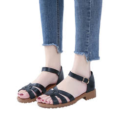 2019 женские босоножки Обувь для женщин летние воды сандалии для девочек римские сандалии ремень пряжка открытый носок элегантная обувь