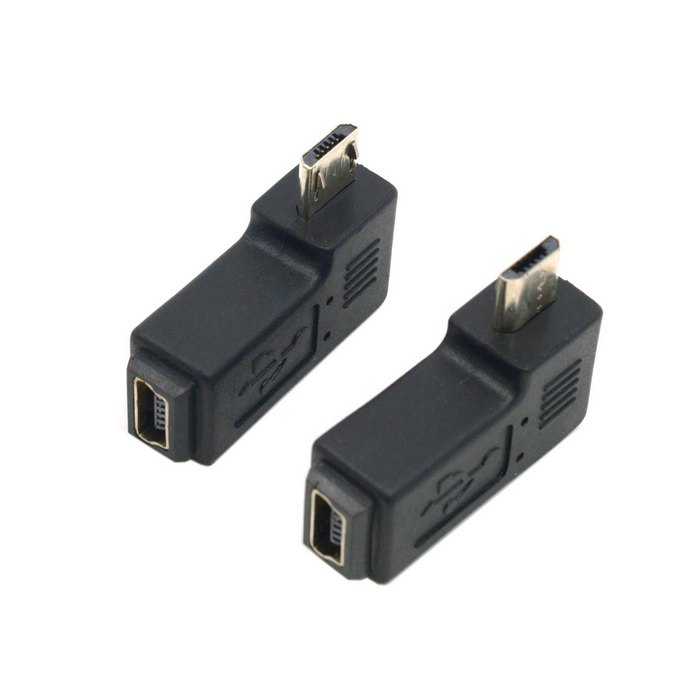 (100pieces/lot) 90 Degree Left & Right Angled Mini USB 5pin Female to Micro USB Male Data Sync Adapter Plug Angle Connector 1 pcs 90 degree right angle direction usb tpye a 5pin right angle micro b male to male adapter data sync charge cable cord
