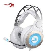 Original XIBERIA T18/S21 7.1 Surround Sound Gaming Headphone Graves Profundos Com Microfone Headset Fones De Ouvido Para Computador PC Garmer