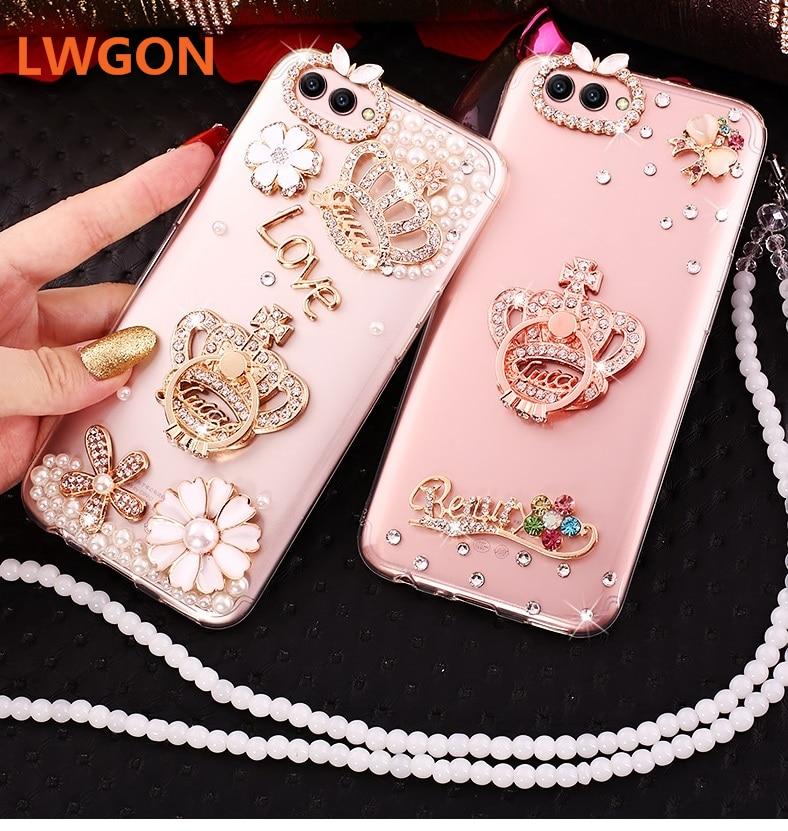 Casing For OPPO Realme 1 2 Pro K1, Luxury Bling Daimond Lovely Cover Case For OPPO Realme C1
