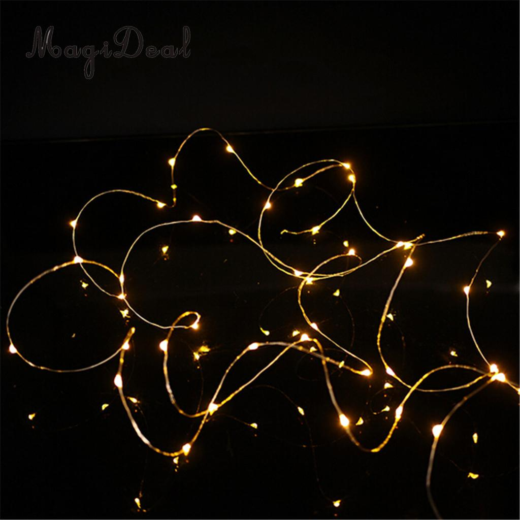 MagiDeal 20 Little LED Light String with Battery Operated Ligthing Chain Fairy Strings Home Kids Room Party Decor Warm White ...