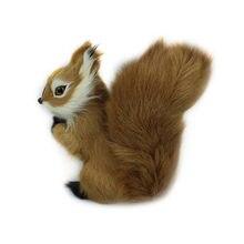 Jouets en peluche Mini Animal 8x7cm, Simulation d'écureuil en peluche mignon pour enfants, décorations cadeau d'anniversaire oreiller Anti-rides pour enfant