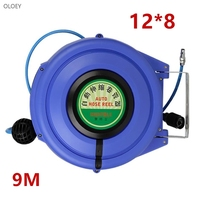 9M Automatic Retractable Reel Telescopic Drum Hose PU12*8 OD 12MM ID 8MM Automotive Air Hose Reel Pneumatic Hose PU Tube