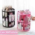 Vanzlife Rotierenden kosmetische lagerung rack Desktop dressing tisch kunststoff lagerung box hautpflege rack lagerung rack-in Make-up-Organizer aus Heim und Garten bei