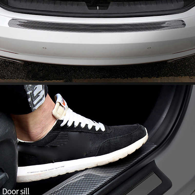 3X100 CENTÍMETROS porta do carro Tampa Anti Scratch protetor Placa 5D adesivo Fibra De Carbono carro tuning universal Acessórios do carro