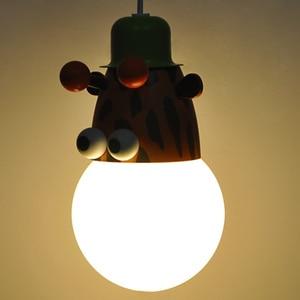 Image 4 - Novelty LED Bulb Light Cartoon Animal Monkey Zebra Giraffe Children Kids Bedroom Pendant Lamp Hang Pendent Light Sleeping Light