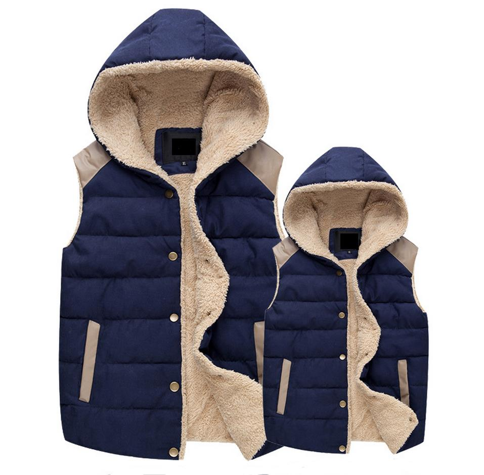 Free Shipping 2017 man and Women s Autumn and Winter Hooded Thick Warm Down Cotton Waistcoat