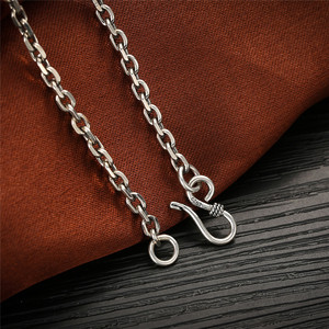 Image 3 - V.YA 2.8MM Solid 925 Sterling Silver Men Chain Long Necklace S925 Thai Silver Jewelry Male Necklaces 55cm 60cm 65cm 70cm