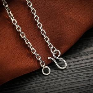 Image 3 - V. Ya 2.8 Mm Massief 925 Sterling Zilveren Heren Ketting Lange Ketting S925 Thai Zilveren Sieraden Mannelijke Kettingen 55 Cm 60cm 65 Cm 70 Cm