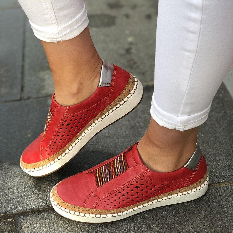Vertvie Slip On Women Sneakers Shallow Loafers Vulcanized Shoes Breathable Hollow Out Female Casual Flats Ladies Comfortable(China)